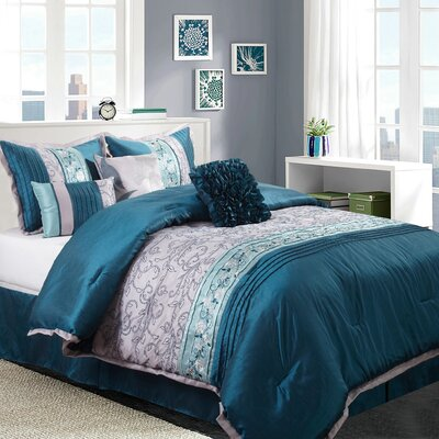 Juliana 7 Piece Comforter Set Size: King