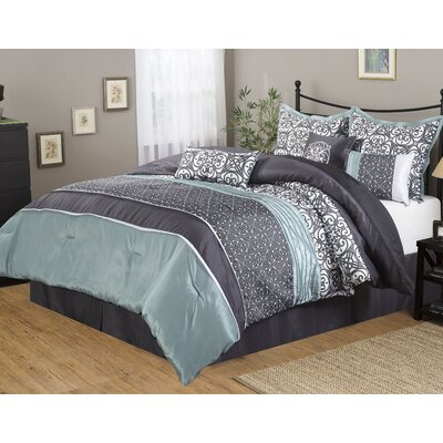 Roxanne 7 Piece Comforter Set Size: King