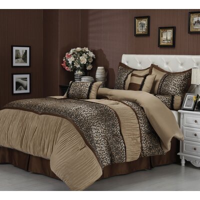 Sadie 7 Piece Comforter Set Size: California King
