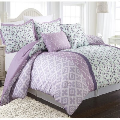 Abigail Reversible Comforter Set Size: Twin
