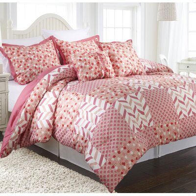 Piper 4 Piece Reversible Comforter Set Size: Twin