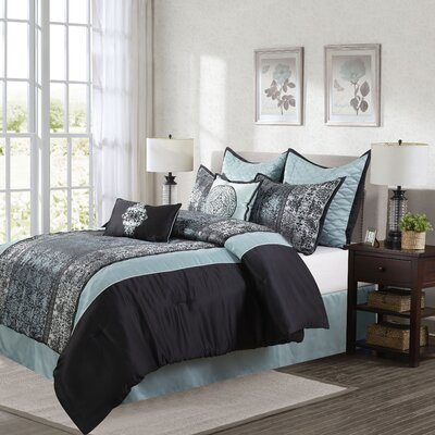 Arabesque 8 Piece Comforter Set Size: Queen