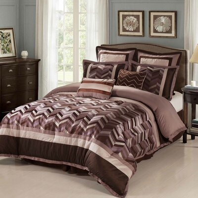 Jonathan 8 Piece Reversible Comforter Set Size: California King