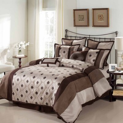 Grayson 8 Piece Reversible Comforter Set Size: Queen