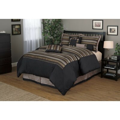 Prescott 7 Piece Comforter Set Size: King