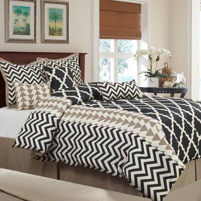 Josh 7 Piece Reversible Comforter Set Size: King