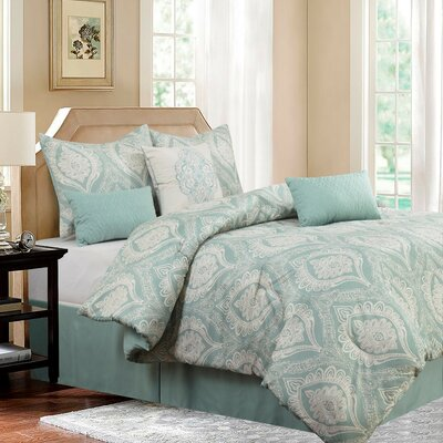 Safara 7 Piece Comforter Set Size: Queen