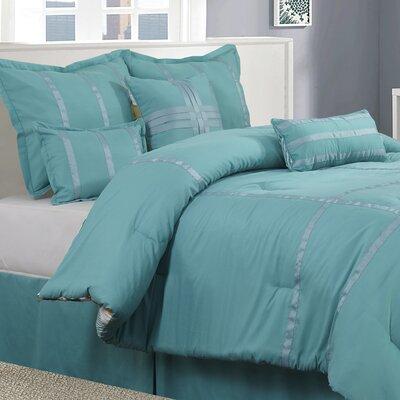 Nolan 7 Piece Reversible Comforter Set Size: Queen