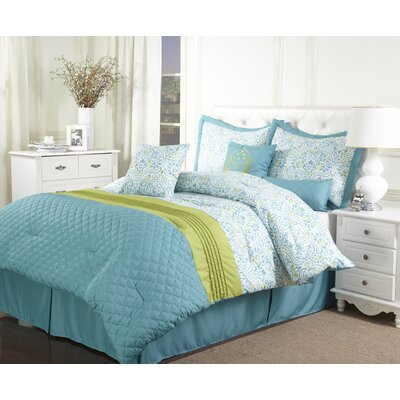 Bettina 7 Piece Comforter Set Size: King