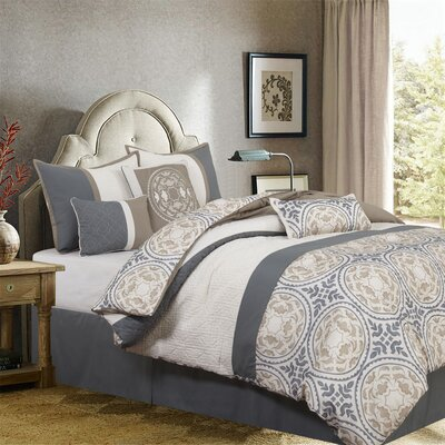Camila 7 Piece Comforter Set Size: King
