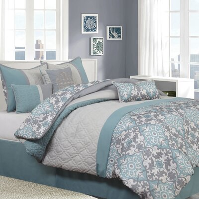 Reina 7 Piece Comforter Set Size: Queen