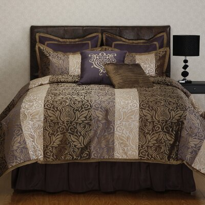 Laurence 8 Piece Comforter Set Size: California King