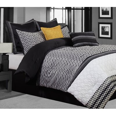 Gigi 8 Piece Comforter Set Size: California King