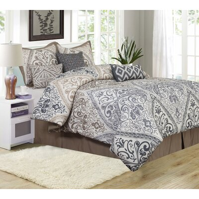 Farren 7 Piece Comforter Set Size: Queen