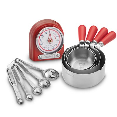 Measuring 10 Piece Timer, Spoon and Cup Set Color: Apple Red 61205