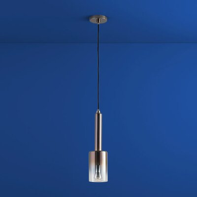 Spindle 1-Light Mini Pendant Finish: Gunmetal, Shade Color: Coffee Ombre