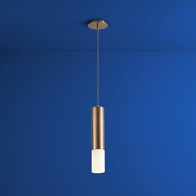Opus 1-Light Mini Pendant Finish: Satin Copper