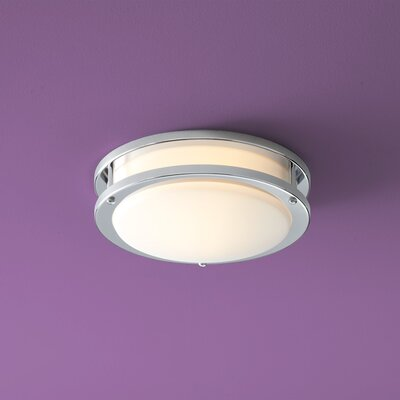 Oracle 1-Light Flush Mount Finish: Polished Chrome, Size: 5 H x 23.75 W x 23.75 D