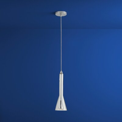 Liberty 1-Light Mini Pendant Finish: Polished Chrome, Shade Color: Clear