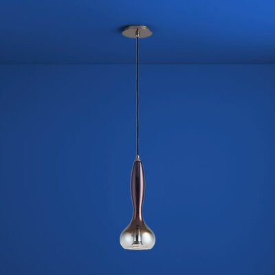 Pyrus 1-Light Mini Pendant Finish: Gunmetal, Shade Color: Coffee Ombre