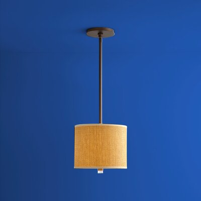 Echo 1-Light Drum Pendant Finish: Oiled Bronze