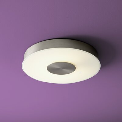 Dione 1-Light Flush Mount Size: 2.25 H x 15 W x 15 D