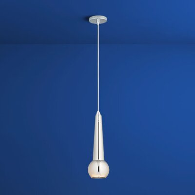 Comet 1-Light Mini Pendant Finish: Polished Chrome, Shade Color: Mirror Glass
