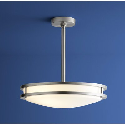 Oracle 2-Lights Inverted Pendant Finish: Satin Nickel