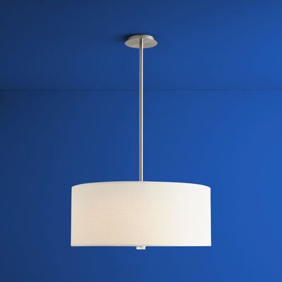 Echo 3-Lights Drum Pendant Size: 10.63 H x 24 W x 24 W