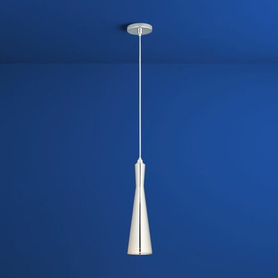 Corneta 1-Light Mini Pendant Finish: Polished Chrome, Shade Color: Clear
