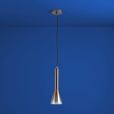 Liberty 1-Light Mini Pendant Finish: Gunmetal, Shade Color: Coffee Ombre