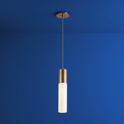 Magnum 1-Light Mini Pendant Finish: Satin Copper