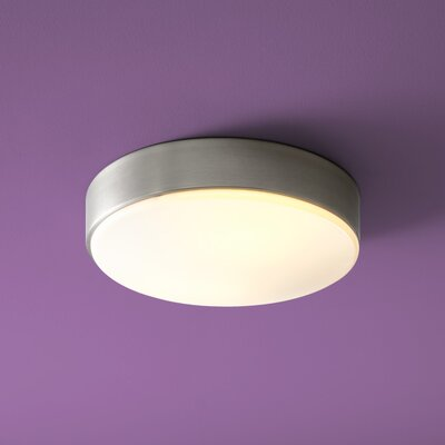 Journey 2-Lights Flush Mount Size: 4.5 H x 14 W x 14 D
