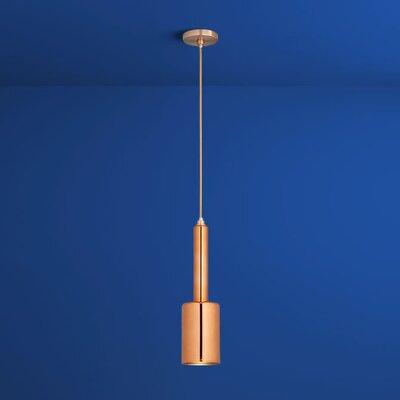 Spindle 1-Light Mini Pendant Finish: Satin Copper, Shade Color: Copper Glass