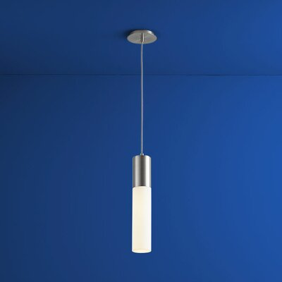 Magnum 1-Light Mini Pendant Finish: Satin Nickel