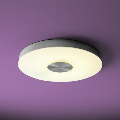 Dione 1-Light Flush Mount Size: 2.25 H x 21 W x 21 D