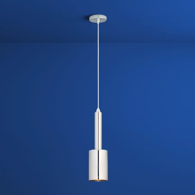Spindle 1-Light Mini Pendant Finish: Polished Chrome, Shade Color: Mirror Glass