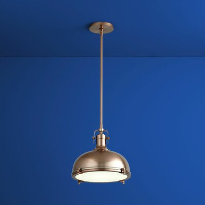 Vida Bowl Pendant Finish: Satin Copper