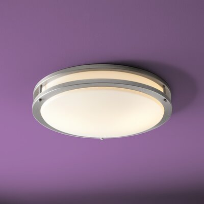 Oracle 2-Light Flush Mount Finish: Satin Nickel