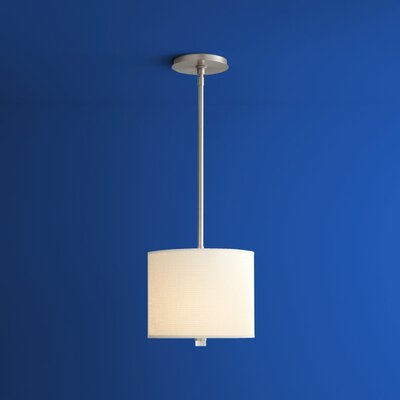 Echo 1-Light Drum Pendant Finish: Satin Nickel