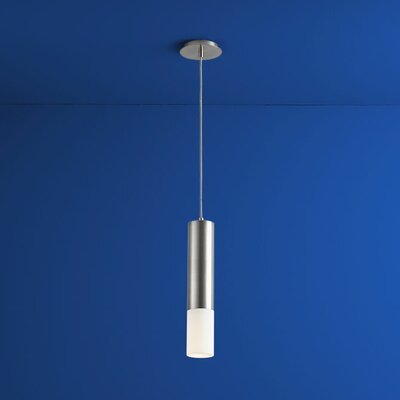Opus 1-Light Mini Pendant Finish: Satin Nickel