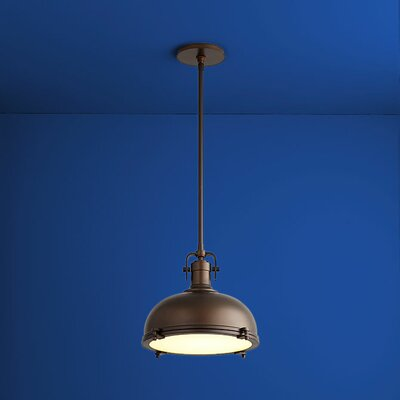 Vida Bowl Pendant Finish: Oiled Bronze