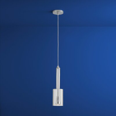 Spindle 1-Light Mini Pendant Finish: Polished Chrome, Shade Color: Clear