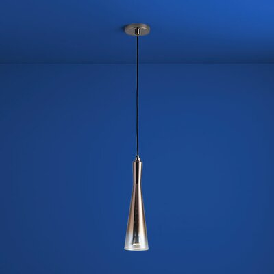 Bence 1-Light Mini Pendant Finish: Polished Chrome, Shade Color: Smoke Ombre