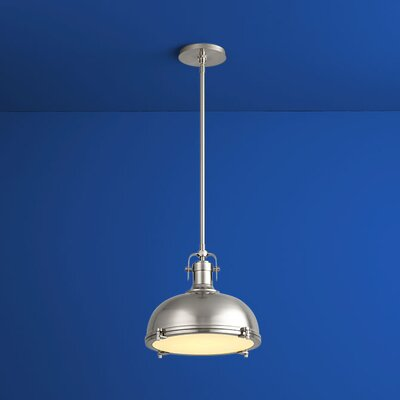 Vida Bowl Pendant Finish: Satin Nickel