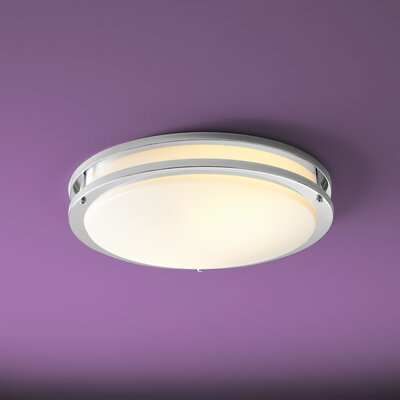 Oracle 2-Light Flush Mount Finish: Polished Chrome