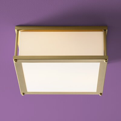 Modulo 1-Light Flush Mount Finish: Satin Brass