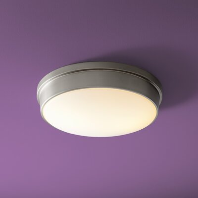 Theory 2-Lights Flush Mount Finish: Satin Nickel