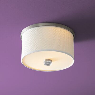 Echo 2-Lights Flush Mount Finish: Satin Nickel, Size: 7.75 H x 11.5 W x 11.5 D