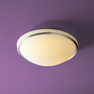 Saturna 2-Light Flush Mount Finish: Satin Nickel